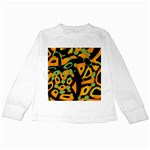 Abstract animal print Kids Long Sleeve T-Shirts Front