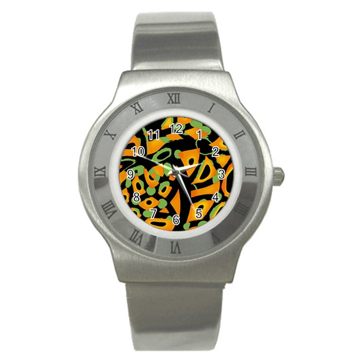 Abstract animal print Stainless Steel Watch