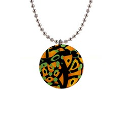 Abstract Animal Print Button Necklaces by Valentinaart
