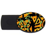 Abstract animal print USB Flash Drive Oval (4 GB)  Front
