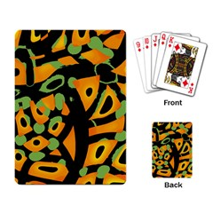 Abstract animal print Playing Card