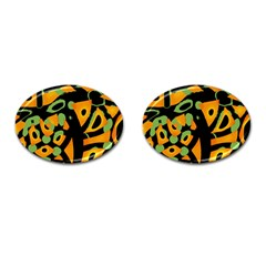 Abstract Animal Print Cufflinks (oval) by Valentinaart
