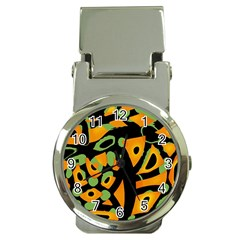 Abstract Animal Print Money Clip Watches by Valentinaart
