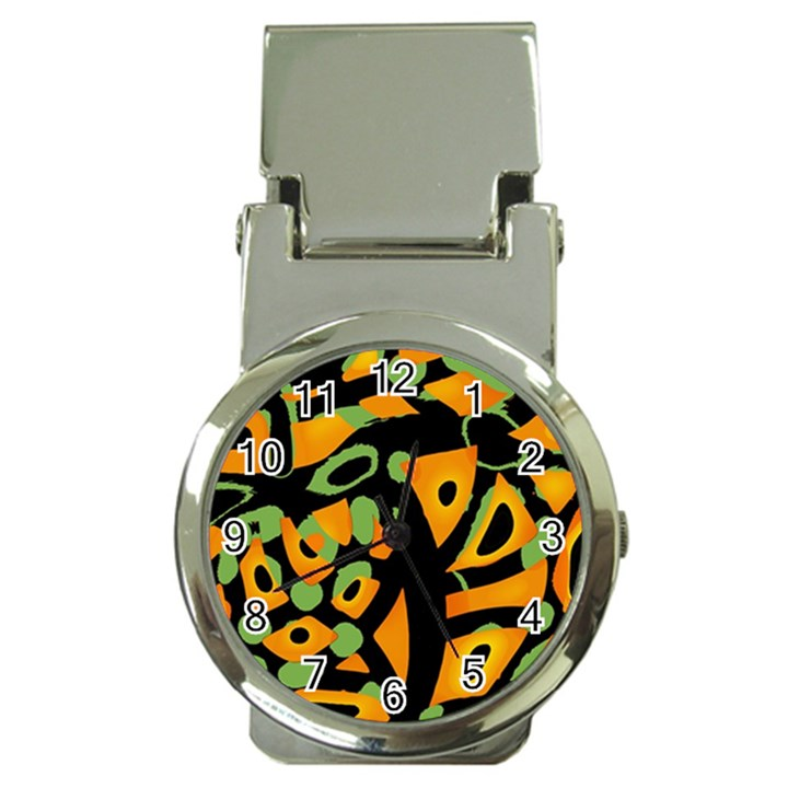 Abstract animal print Money Clip Watches