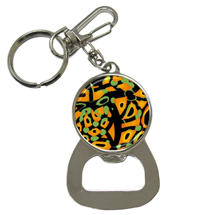 Abstract animal print Bottle Opener Key Chains