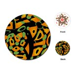 Abstract animal print Playing Cards (Round)  Front