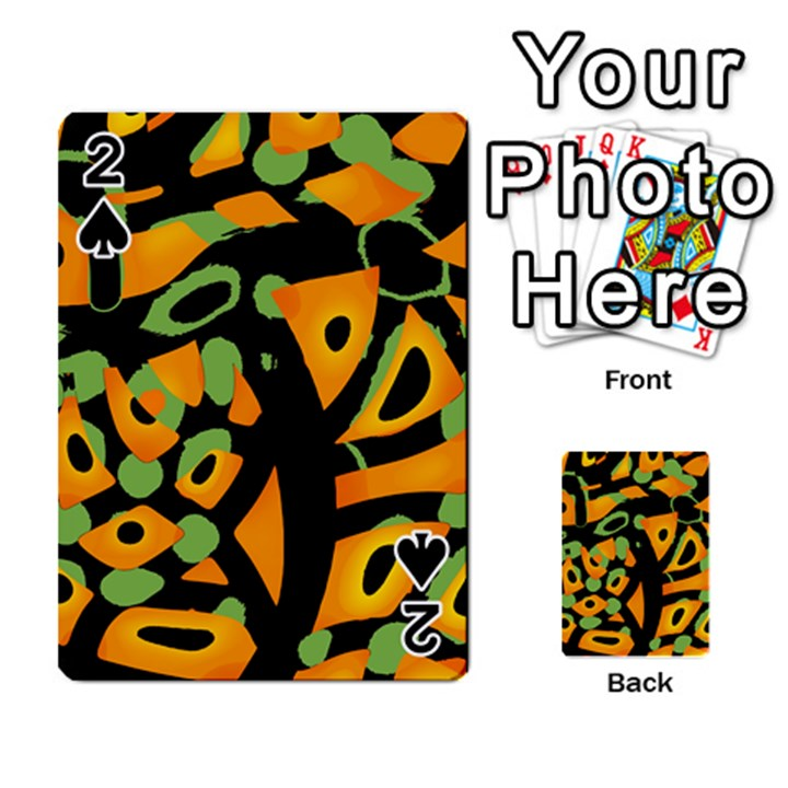 Abstract animal print Playing Cards 54 Designs