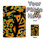 Abstract animal print Playing Cards 54 Designs  Front - Spade3