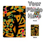 Abstract animal print Playing Cards 54 Designs  Front - Heart4