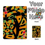 Abstract animal print Playing Cards 54 Designs  Front - Heart9