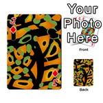 Abstract animal print Playing Cards 54 Designs  Front - DiamondJ
