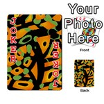 Abstract animal print Playing Cards 54 Designs  Front - Joker2