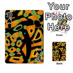 Abstract animal print Playing Cards 54 Designs  Front - Spade10