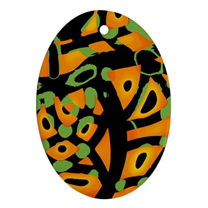 Abstract animal print Oval Ornament (Two Sides)