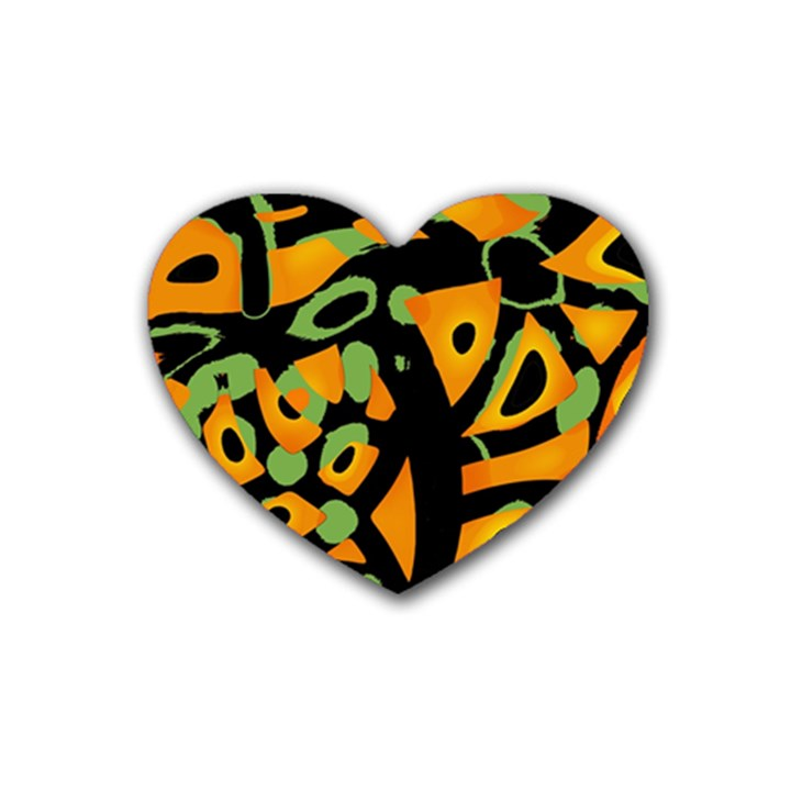 Abstract animal print Heart Coaster (4 pack)