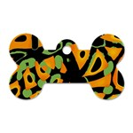 Abstract animal print Dog Tag Bone (One Side) Front