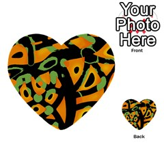 Abstract Animal Print Multi Purpose Cards (heart)