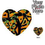 Abstract animal print Multi-purpose Cards (Heart)  Back 44