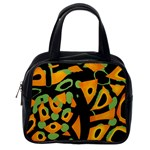Abstract animal print Classic Handbags (2 Sides) Back