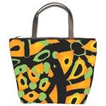 Abstract animal print Bucket Bags Front