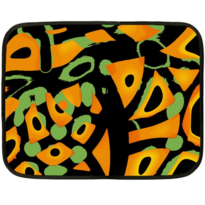 Abstract animal print Double Sided Fleece Blanket (Mini)