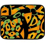 Abstract animal print Double Sided Fleece Blanket (Mini)  35 x27 Blanket Back