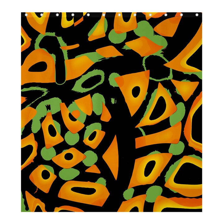Abstract animal print Shower Curtain 66  x 72  (Large)
