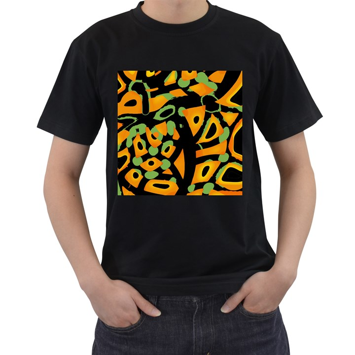 Abstract animal print Men s T-Shirt (Black)
