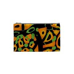 Abstract animal print Cosmetic Bag (Small)