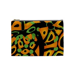 Abstract Animal Print Cosmetic Bag (medium)
