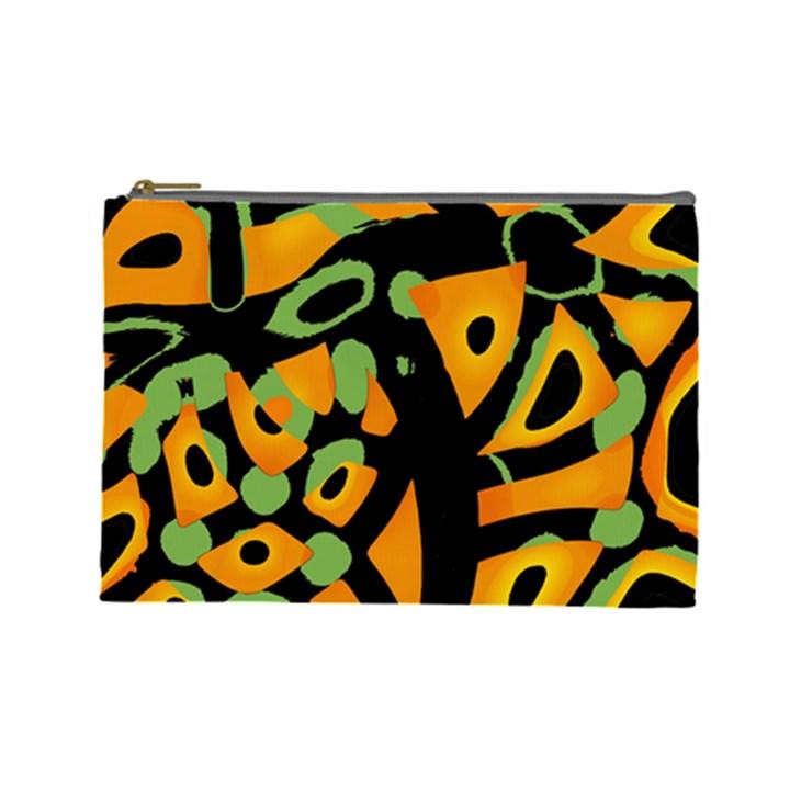 Abstract animal print Cosmetic Bag (Large)