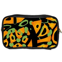 Abstract Animal Print Toiletries Bags 2 Side