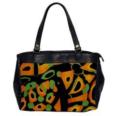 Abstract animal print Office Handbags