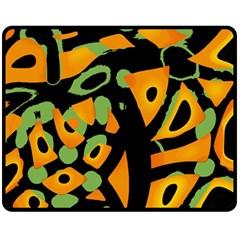 Abstract animal print Fleece Blanket (Medium)