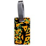 Abstract animal print Luggage Tags (Two Sides) Back