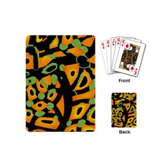Abstract Animal Print Playing Cards (mini)  by Valentinaart