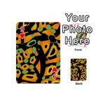 Abstract animal print Playing Cards 54 (Mini)  Front - Heart9