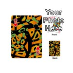 Abstract animal print Playing Cards 54 (Mini)  Front - HeartQ