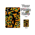 Abstract animal print Playing Cards 54 (Mini)  Front - Spade6