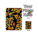 Abstract animal print Playing Cards 54 (Mini)  Front - Club7