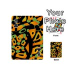 Abstract animal print Playing Cards 54 (Mini)  Front - Club8