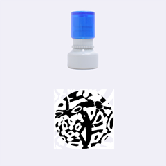Abstract Animal Print Rubber Round Stamps (small)