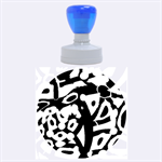 Abstract animal print Rubber Round Stamps (Large) 1.875 x1.875  Stamp