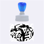 Abstract animal print Rubber Oval Stamps 1.88 x1.37  Stamp