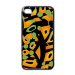 Abstract animal print Apple iPhone 4 Case (Black) Front