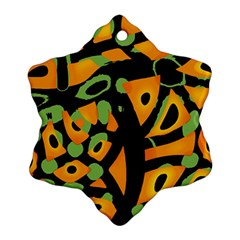 Abstract Animal Print Ornament (snowflake)