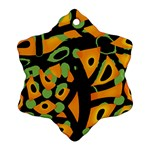 Abstract animal print Snowflake Ornament (2-Side) Front