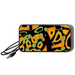 Abstract animal print Portable Speaker (Black)  Front