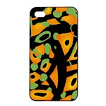 Abstract animal print Apple iPhone 4/4s Seamless Case (Black) Front