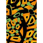 Abstract animal print I Love You 3D Greeting Card (7x5) Inside